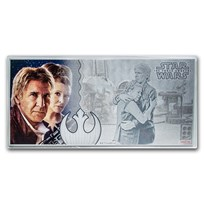2019 5 gr Silver $1 Note Star Wars The Force Awakens: Han & Leia