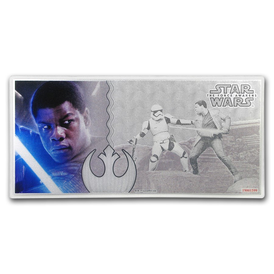 2019 5 gram Silver $1 Note Star Wars The Force Awakens: Finn
