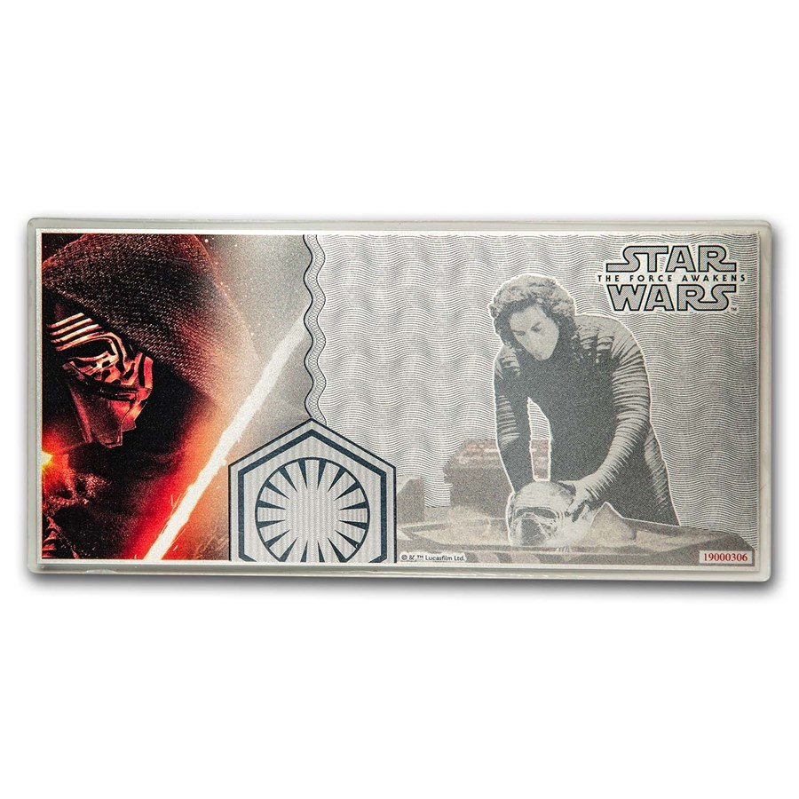 Äkta internationell tapet  2019 5 g Silver $1 Note Star Wars The Force Awakens: Kylo Ren For Sale |  New Zealand Mint (Star Wars Coin Series) | APMEX New Zealand Mint