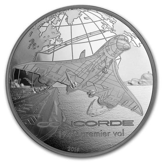 2019 5 oz Proof Silver Aviation & History (Concorde)