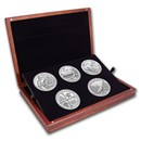 2019 5 oz Silver ATB 5-Coin Set (Elegant Display Box)