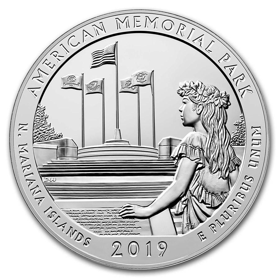 2019 5 oz Silver ATB American Memorial Park, MP