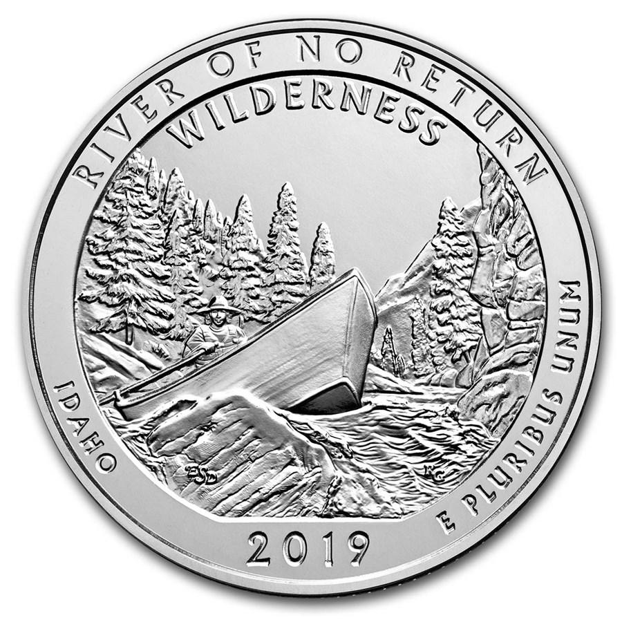 2019 5 oz Silver ATB Frank Church River of No Return Wild, ID