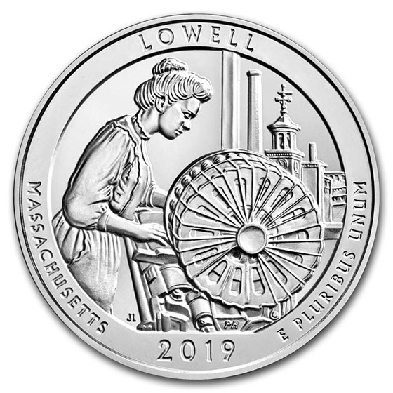 2019 5 oz Silver ATB Lowell National Historical Park, MA