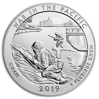 2019 5 oz Silver ATB War in the Pacific National Hist. Park, GU