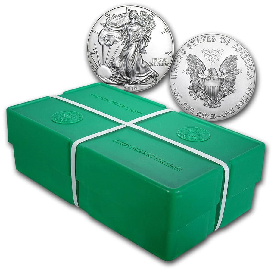 2019 500-Coin American Silver Eagle Monster Box (Sealed)