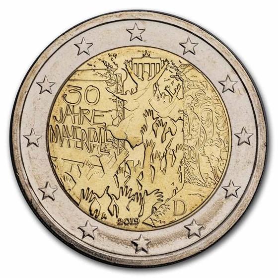 2019-A Germany 2 Euro Fall of the Berlin Wall BU