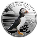 2019 Alderney 1 oz Proof Silver Colorized Puffin