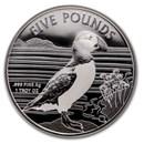 2019 Alderney 1 oz Silver Puffin BU