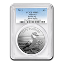 2019 Alderney 1 oz Silver Puffin MS-69 PCGS (FirstStrike®)