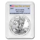 2019 American Silver Eagle MS-70 PCGS (First Day of Issue)