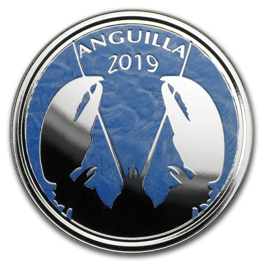 2019 Anguilla 1 oz Silver Lobster (Colorized)