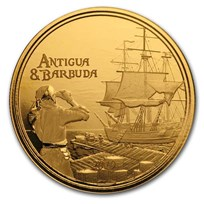 2019 Antigua & Barbuda 1 oz Gold Rum Runner BU