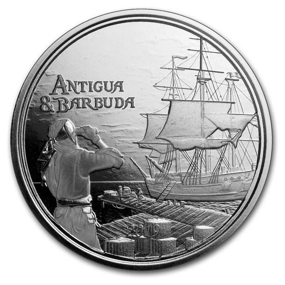 2019 Antigua & Barbuda 1 oz Silver Rum Runner BU