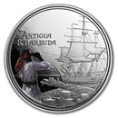 2019 Antigua & Barbuda 1 oz Silver Rum Runner Proof (Colorized)