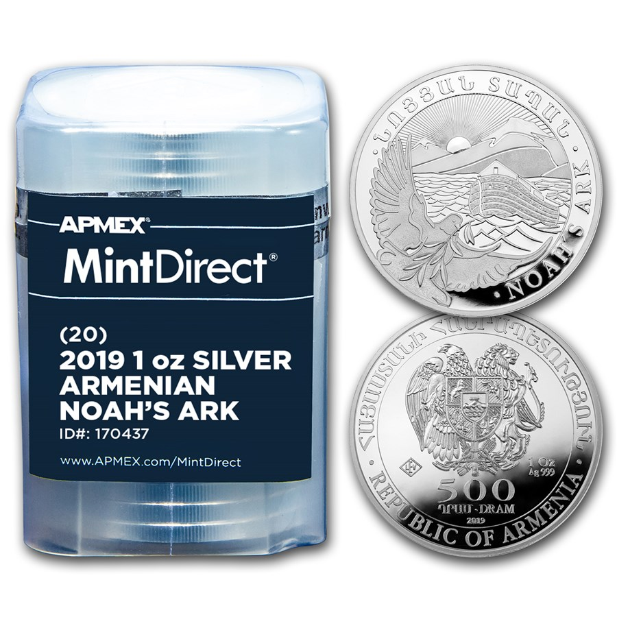 2019 Armenia 1 oz Silver Noah's Ark (20-Coin MintDirect® Tube)