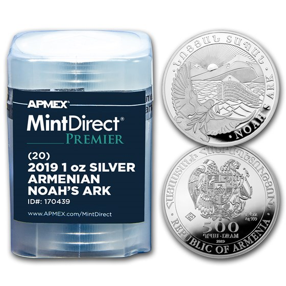 2019 Armenia 1 oz Silver Noah's Ark (MintDirect® Premier Tube)
