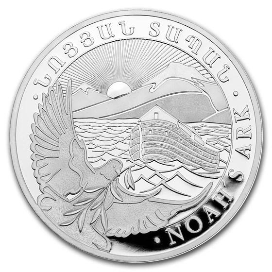 2019 Armenia 5 oz Silver 1000 Drams Noah's Ark