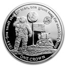 2019 Ascension Island Silver 1 Crown First Man on the Moon