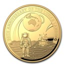 2019 AUS 1 oz Gold $100 Apollo 11 Moon Landing Domed Proof