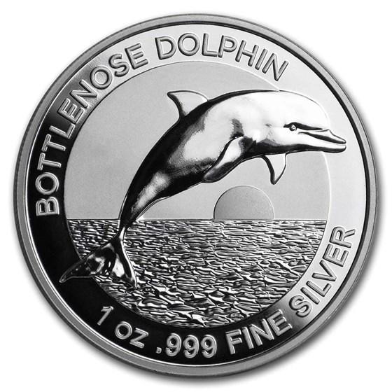 2019 AUS 1 oz Silver $5 Dolphin Proof (High Relief, w/Box & COA)