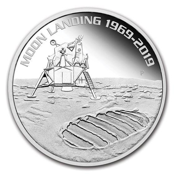 2019 AUS 1 oz Silver Anniversary of the Moon Landing (No COA)