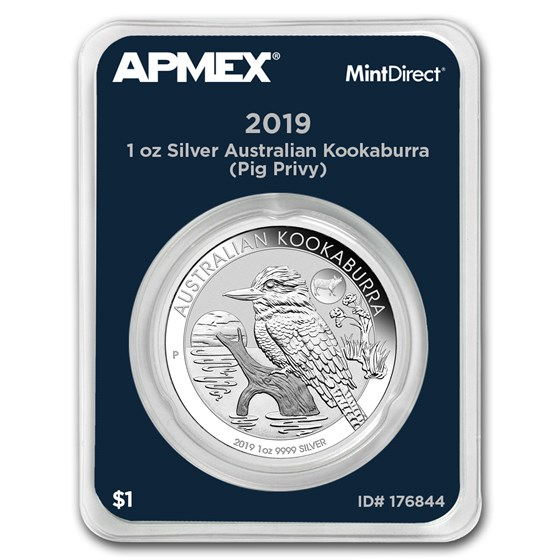 2019 AUS 1 oz Silver Kookaburra Pig Privy (MintDirect® Single)