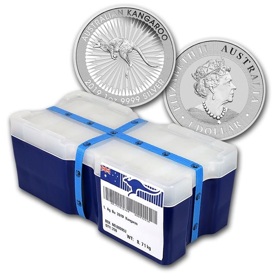 2019 AUS 250-Coin 1 oz Silver Kangaroo Mini Monster Box BU