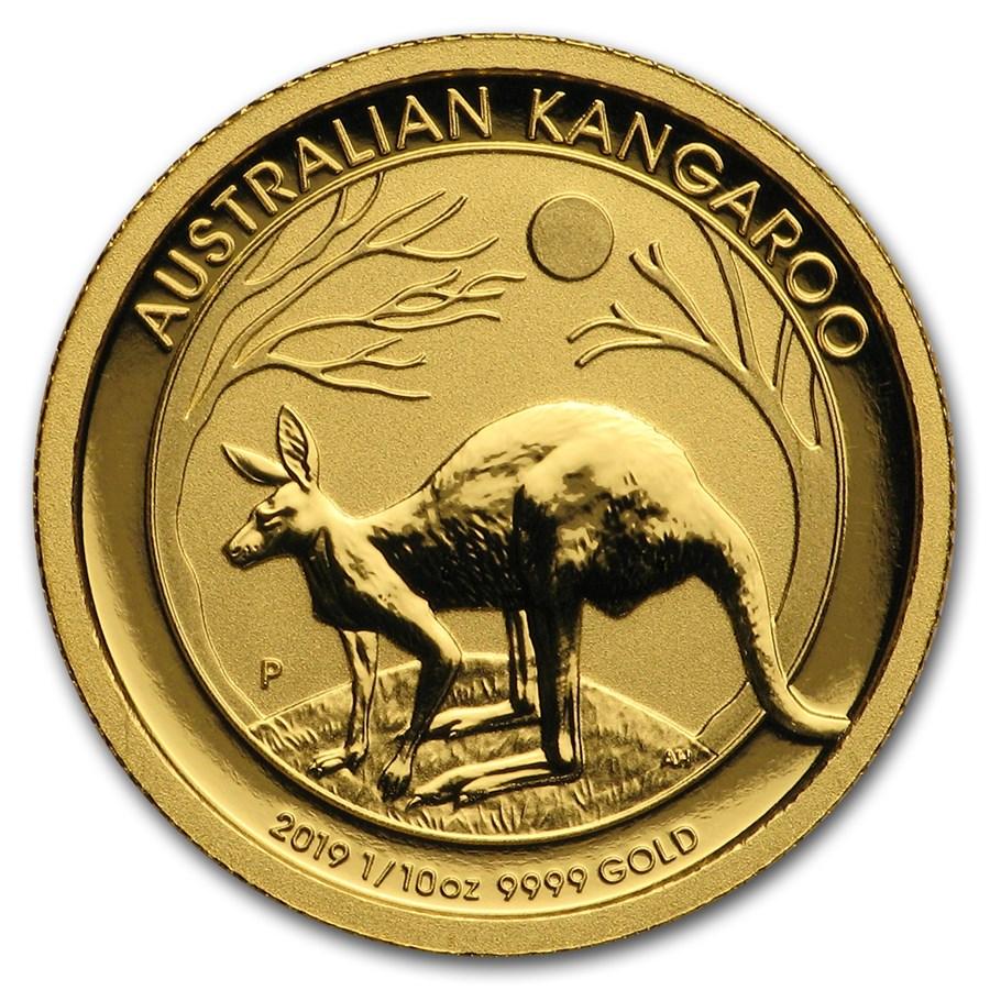 2019 Australia 1/10 oz Gold Kangaroo BU