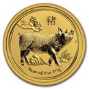 2019 Australia 1/10 oz Gold Lunar Pig BU