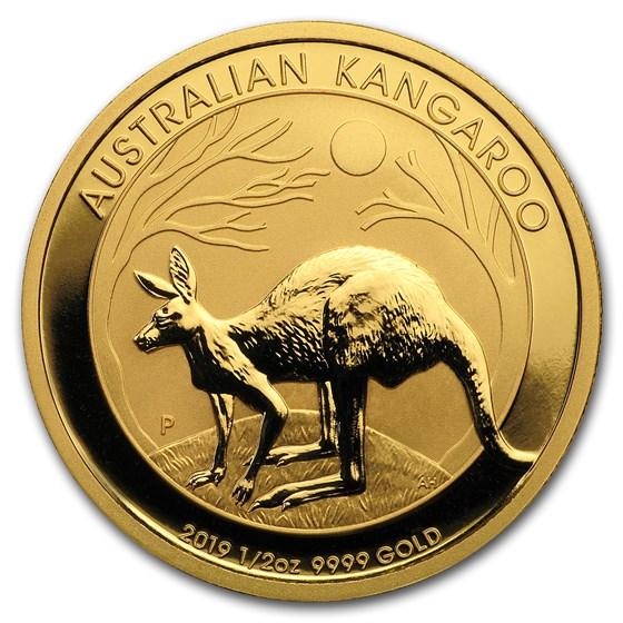 2019 Australia 1/2 oz Gold Kangaroo BU