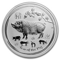 2019 Australia 1/2 oz Silver Year of the Pig BU (Series II)