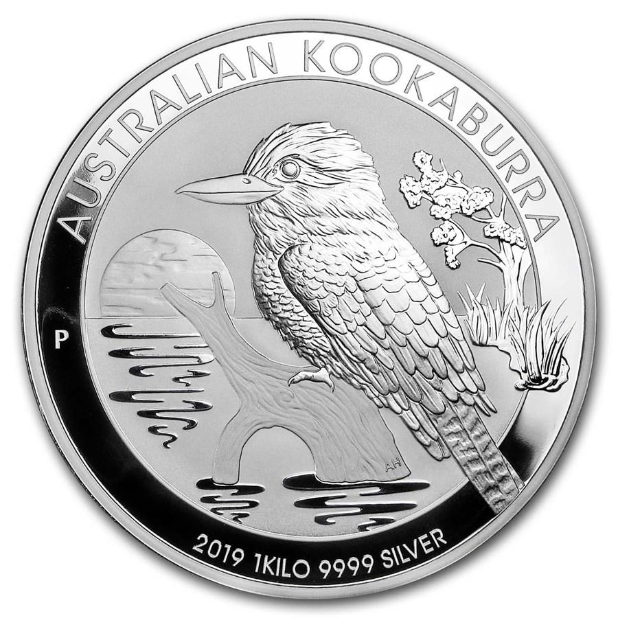 2019 Australia 1 kilo Silver Kookaburra BU