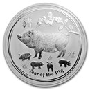 2019 Australia 1 kilo Silver Lunar Pig BU