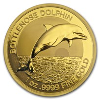 2019 Australia 1 oz Gold $100 Dolphin BU (w/Box & COA)