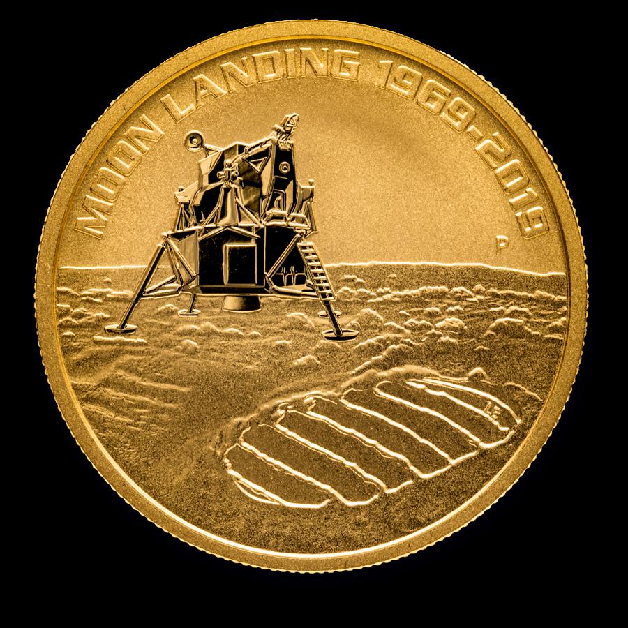 2019 Australia 1 oz Gold Anniversary of the Moon Landing BU