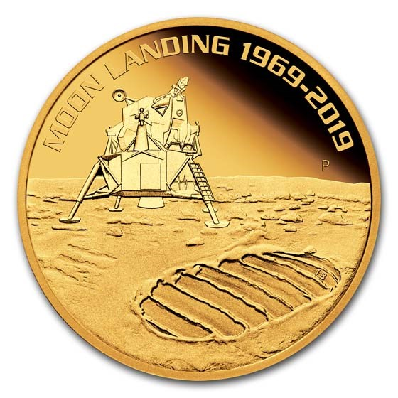 2019 Australia 1 oz Gold Anniversary of the Moon Landing Proof