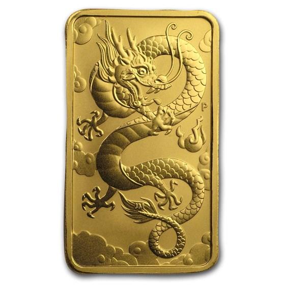2019 Australia 1 oz Gold Dragon BU