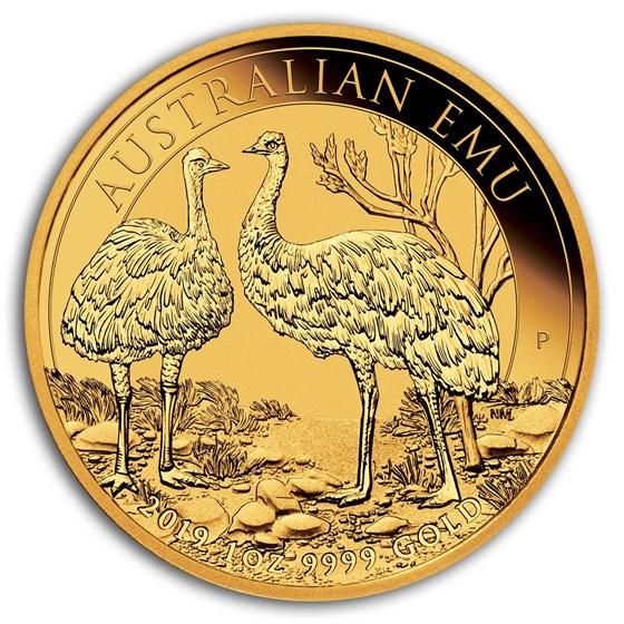 2019 Australia 1 oz Gold Emu BU