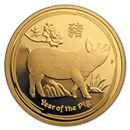 2019 Australia 1 oz Gold Lunar Pig Proof (w/box & COA)
