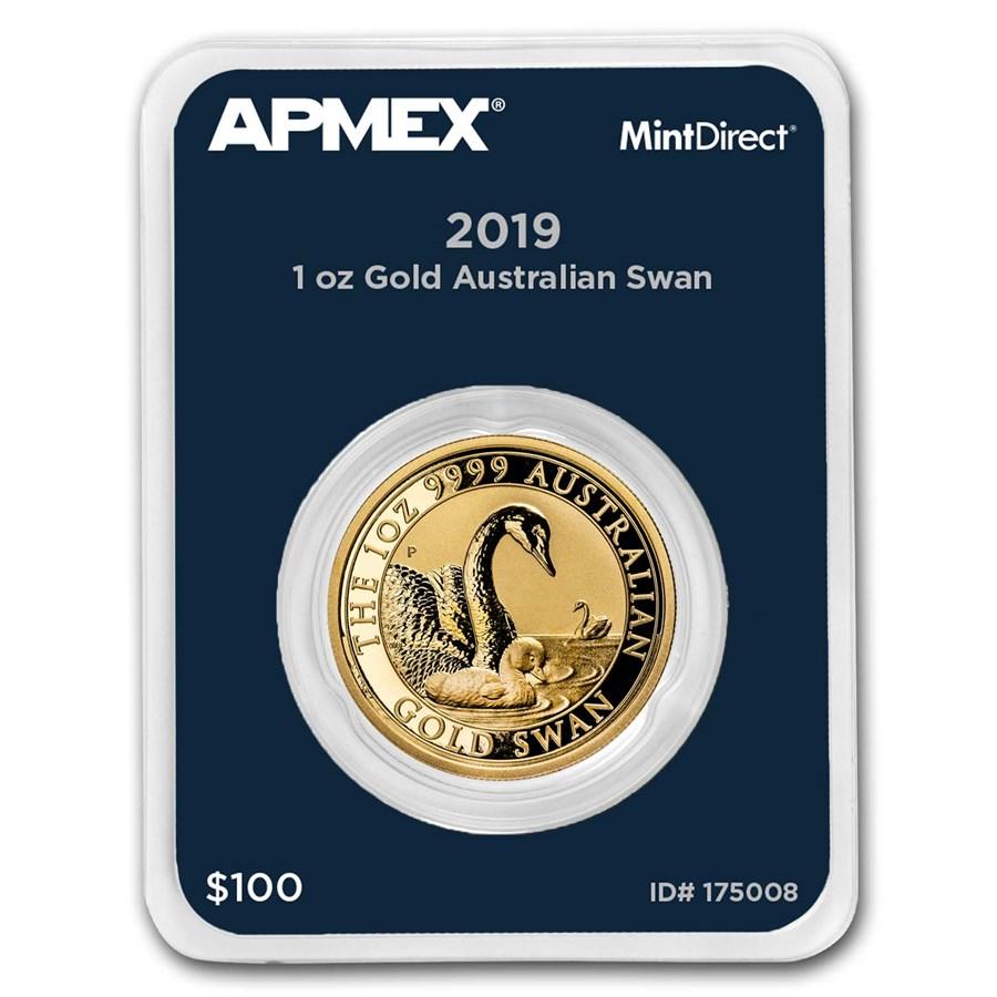 2019 Australia 1 oz Gold Swan (MintDirect® Single)