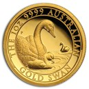 2019 Australia 1 oz Gold Swan Proof (HR, w/Box & COA)
