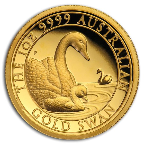 2019 Australia 1 oz Gold Swan Proof (HR, w/Box & COA)