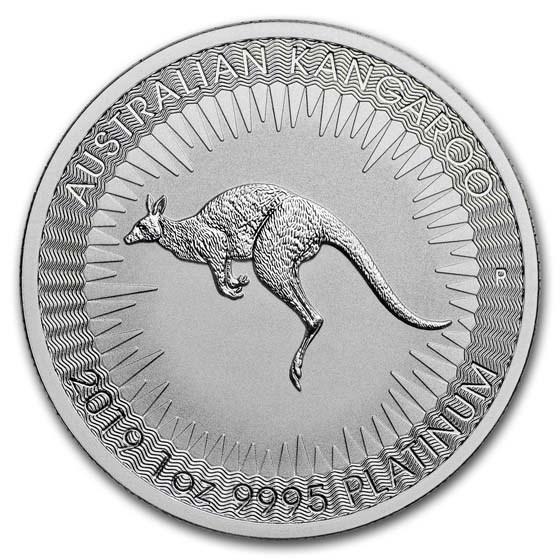 2019 Australia 1 oz Platinum Kangaroo BU
