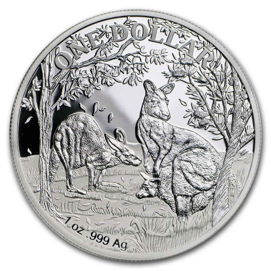 2019 Australia 1 oz Proof Silver Kangaroo (w/Box and COA)