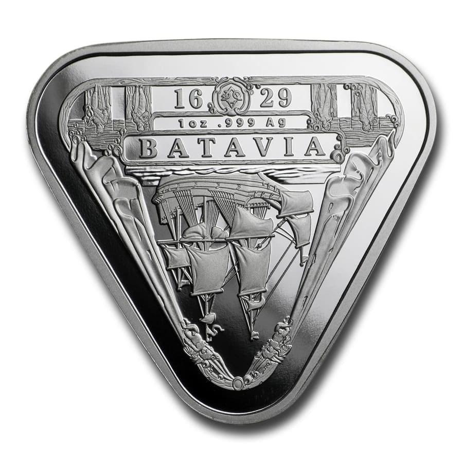 2019 Australia 1 oz Silver $1 Batavia Shipwreck Triangular Coin