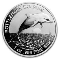 2019 Australia 1 oz Silver $1 Dolphin BU