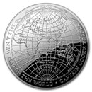 2019 Australia 1 oz Silver $5 Map of the World Domed Proof Coin
