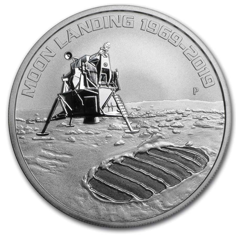 2019 Australia 1 oz Silver Anniversary of the Moon Landing BU