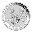 2019 Australia 1 oz Silver Bird of Paradise Manucodia BU